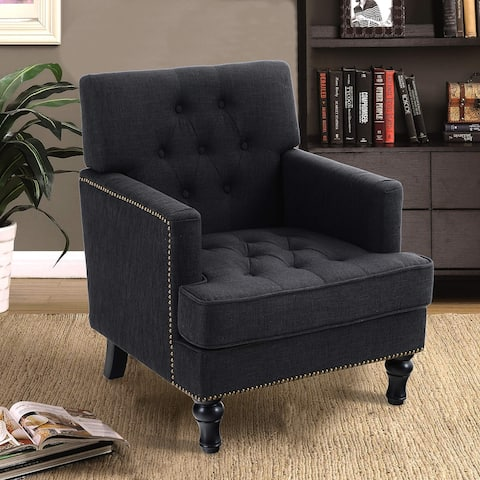 Sophia & William Living Room Chair Mid Century Accent Sofa Chair Modern Linen Armchair