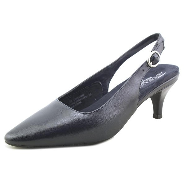 Aerosoles Chardonnay Women W Pointed Toe Leather Blue Slingback Heel