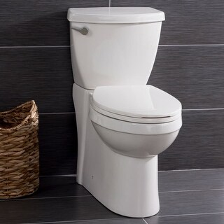 Miseno MNO490C Two-Piece High-Efficiency Elongated Leisure Height Toilet with Slow Close Seat, Decorative Trip Lever, and Wax
