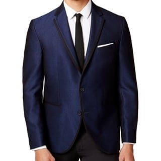 Kenneth Cole Reaction NEW Blue Mens Size 38S Short Two Button Blazer