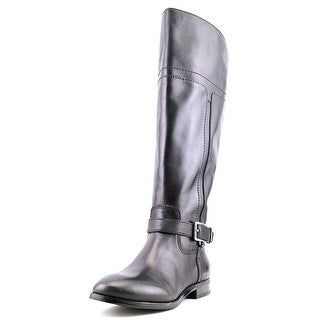 Marc Fisher Aysha Wide Calf Round Toe Leather Knee High Boot