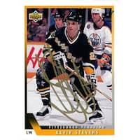 Signed Stevens Kevin Pittsburgh Penguins 1993 Upper Deck Card autographed