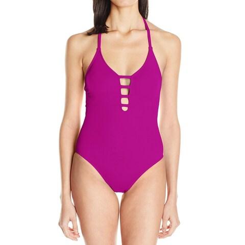 La Blanca Magenta Women's One-Piece Strappy Swimwear
