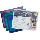 "8.5""X11"" Assorted Colors - Craft Keepers Snap Closure Envelope (5 Pack)"