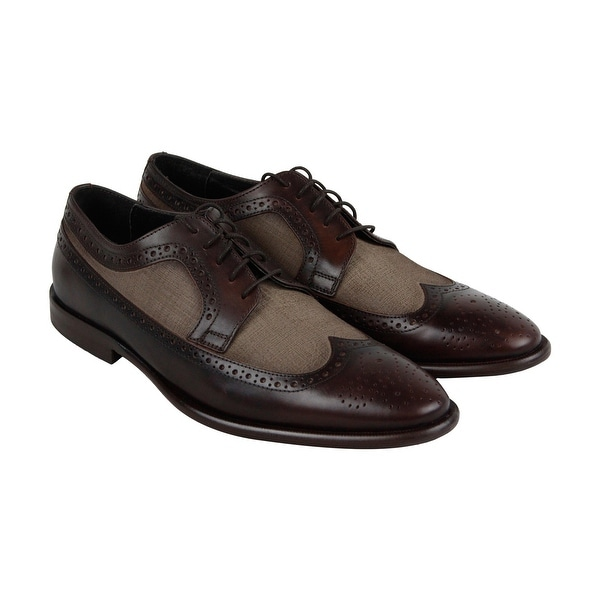 Kenneth Cole New York Super Hero Mens Brown Leather Casual Dress Oxfords Shoes