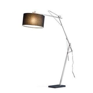 Adesso 5272-22 1 Light Arc Lamp - satin steel
