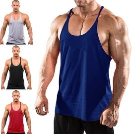 Men's Tank Top Gym Singlets Sports Vest Bodybuilding and Fitness Stringer Muscle Tank Shirt