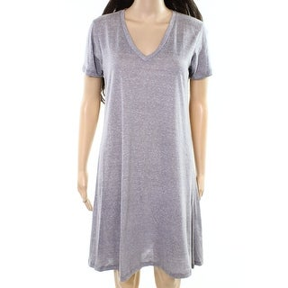 C&C California NEW Light Gray Womens Size Small S V-Neck Shirt Dress