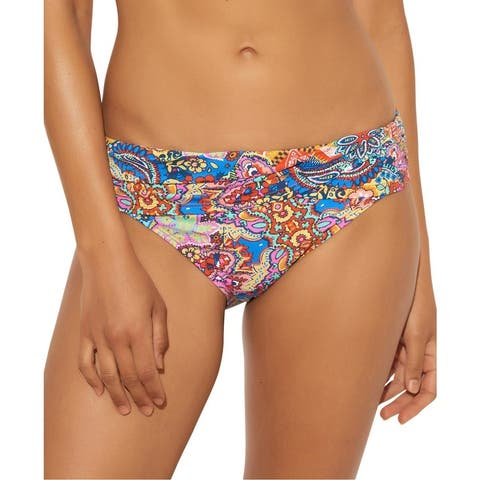 Bleu Rod Beattie Womens Foldover Runched Swim Bottom Separates - Multi