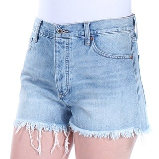 LUCKY BRAND $79 Womens New 1599 Blue Floral Frayed Embroidered Short 8 B+B
