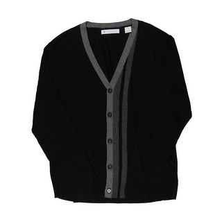Ryan Seacrest Mens Button-Down Racing Stripe Cardigan Sweater