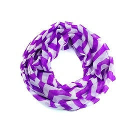 Zigzag Chevron Soft & Lightweight Loop Infinity Scarf