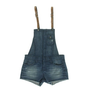 Frankie B Womens Distressed Perfect Fit Shortalls - 24