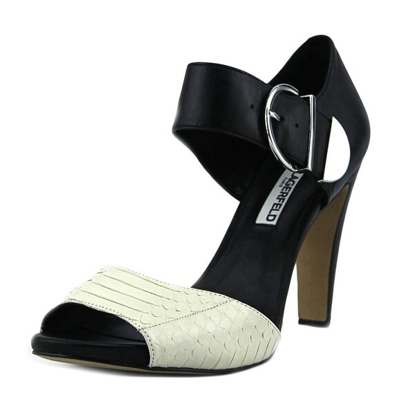 Karl Lagerfeld Cherina 4 Women Open-Toe Leather Black Heels