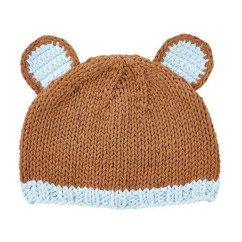 Brown Bear Knit Cap - 6-12 months - One Size