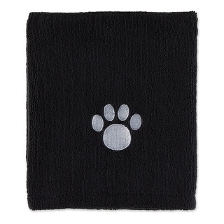 """Link to Bone Dry Navy Embroidered Paw Pet Towel - X-Large, 44x27.5"""" Similar Items in Dog Food & Treats"""
