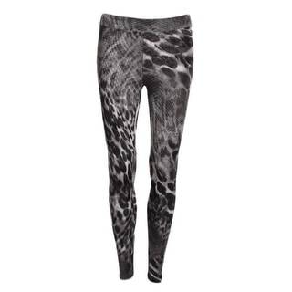 Aqua Womens Matte Jersey Animal Print Leggings - S