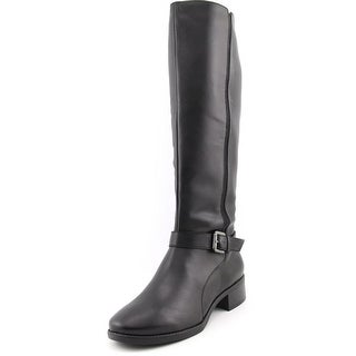 Easy Spirit Nadette Women Round Toe Leather Black Knee High Boot