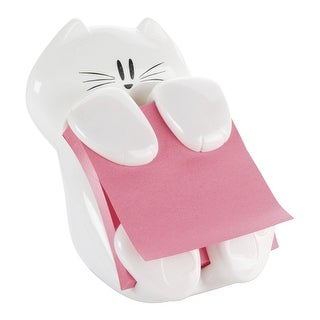 Post-it Note Cat Dispenser, 3 x 3 Inches, White