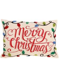 Merry Christmas Light Pillow