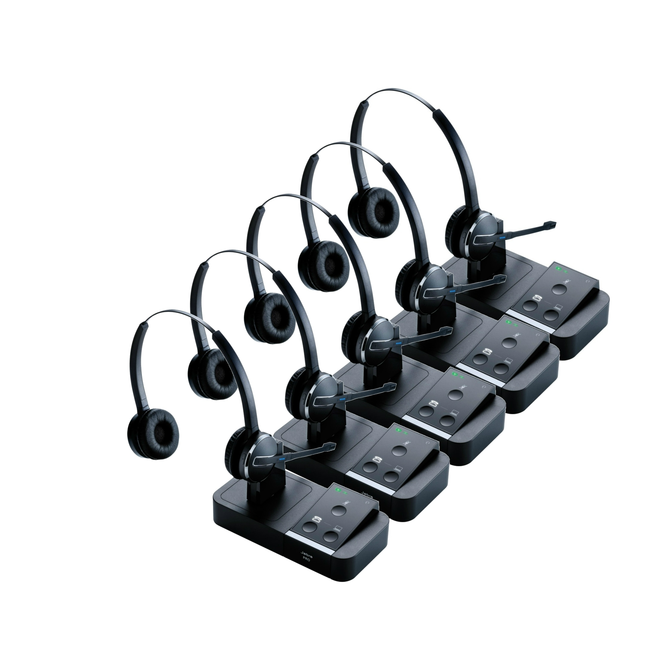 Shop Jabra Pro 9450 Mono Wireless Headset 5 Pack W Peakstop Technology Free Shipping Today Overstock 15388145