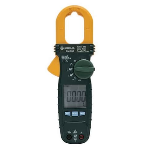 Greenlee CM-660 Calibrated AC True-RMS Voltage Clamp Meter, 600 VAC/VDC, 600 Amp
