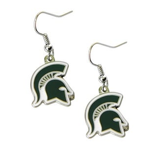 Michigan State Spartans Dangle Logo Earring Set NCAA Charm Gift