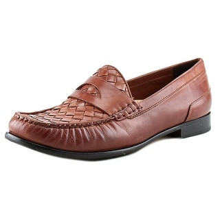 Cole Haan Laurel Woven.Moc Women 2A Moc Toe Leather Loafer