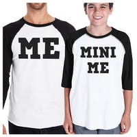 Mini Me Dad and Kid Matching Baseball Shirts Funny Fathers Day Gift