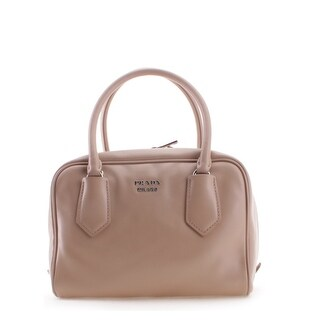 Prada Soft Calf Leather Inside Bag Tote Handbag - Tan - M