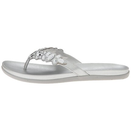 Kenneth Cole Reaction Womens Slim Shadee Open Toe Casual, Silver59, Size 6.0