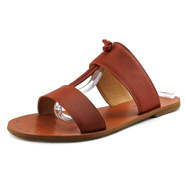 Lucky Brand Anlissa   Open Toe Leather  Slides Sandal