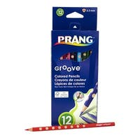 Prang Groove Colored Pencils, Assorted Colors, Set of 12
