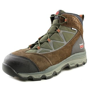 Timberland Pro Rockscape Mid Men Steel Toe Leather Brown Work Shoe