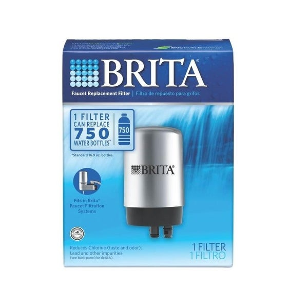 Brita 42617 Replacement Faucet Water Filter, Chrome