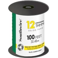100 in. Green 12 Gauge 19 Strand Copper Building Wire