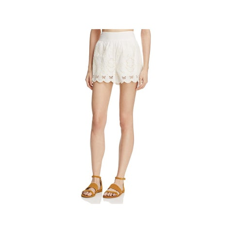 Beltaine Womens Evynn Dress Shorts Embroidered Cut-Out