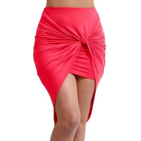 NE PEOPLE Women's bodycon shirred side skirt [NEWSK23]