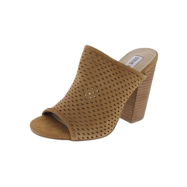 Steve Madden Womens Rixy Mules Open Toe Stacked