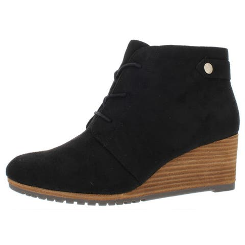 Dr. Scholl's Womens Conquer Ankle Boots Lace-Up