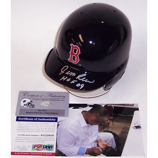 Jim Rice Autographed Hand Boston Red Sox Mini Helmet  PSADNA