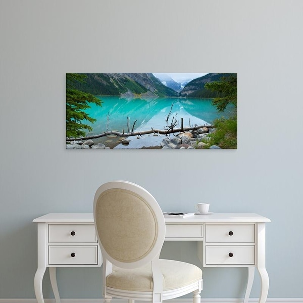Easy Art Prints Panoramic Image 'Canadian Rockies, Lake Louise, Banff National Park, Alberta, Canada' Canvas Art