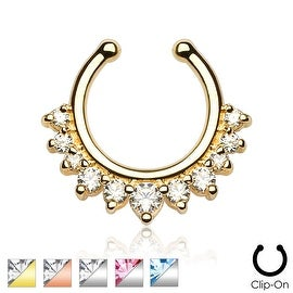 Single Line with Multi Gems Non-Piercing Septum Hanger (Sold Ind.)