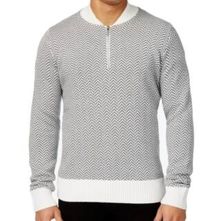 Sean John NEW White Gray Mens Size XL 1/2 Zip Herringbone Sweater|https://ak1.ostkcdn.com/images/products/is/images/direct/5f2a49352c68b95e031486893d8cd36d33449c09/Sean-John-NEW-White-Gray-Mens-Size-XL-1-2-Zip-Herringbone-Sweater.jpg?impolicy=medium
