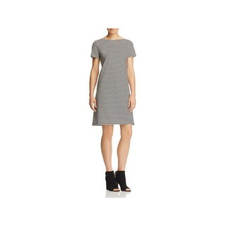 Lafayette 148 New York Womens Cocktail Dress Striped Empire