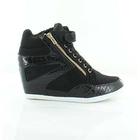 Thalia Sodi Womens Azar Fabric Hight Top Zipper Fashion Sneakers