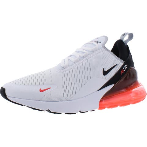 Nike Men's Air Max 270 Breathable Mesh Training Athletic Sneakers - White/Black/Wolf Grey