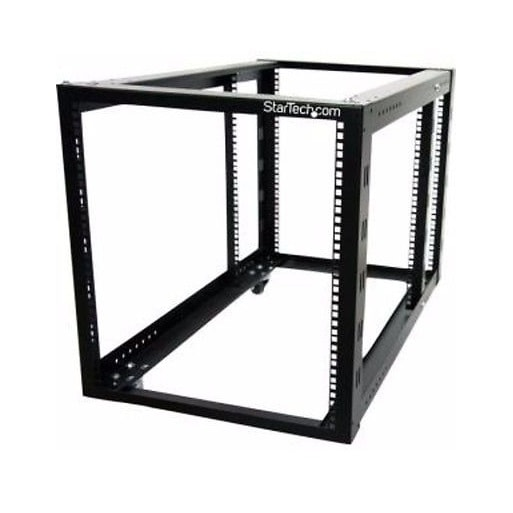 Startech - 4Postrack12a 4Post Rack Adjustable 12U Opennframe Server Rack With Casters