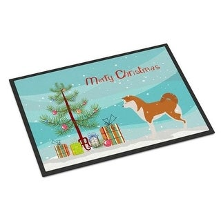 Carolines Treasures BB2990JMAT Akita Merry Christmas Tree Indoor or Outdoor Mat 24 x 36