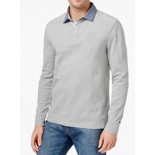 Tommy Hilfiger NEW Gray Men's Size XL Heathered Logo Henley Shirt